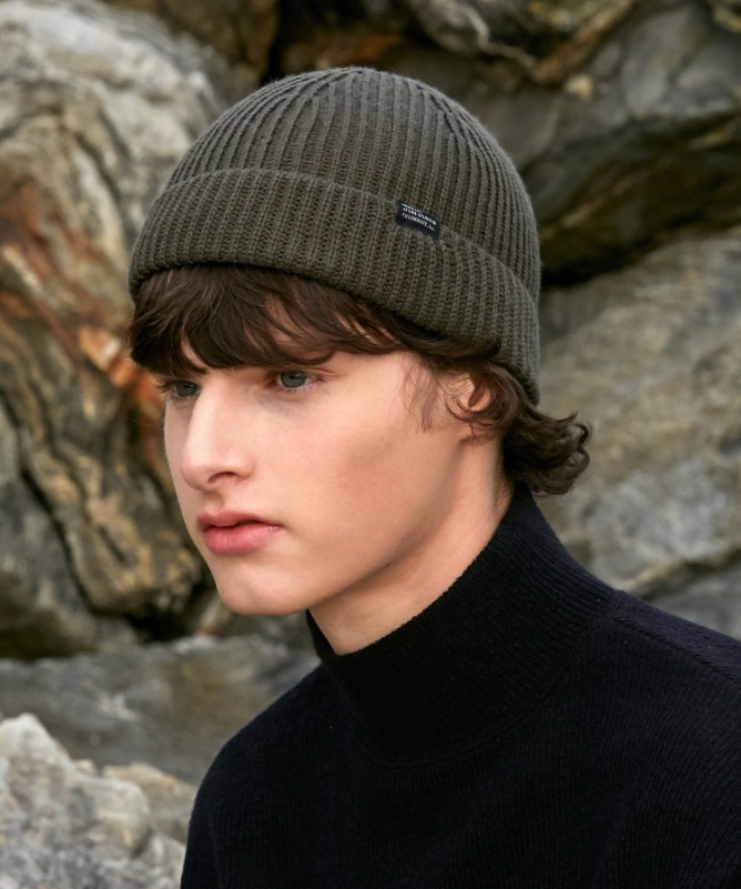 Unisex Easy Short Beanie-Khaki-F.ILLUMINATE