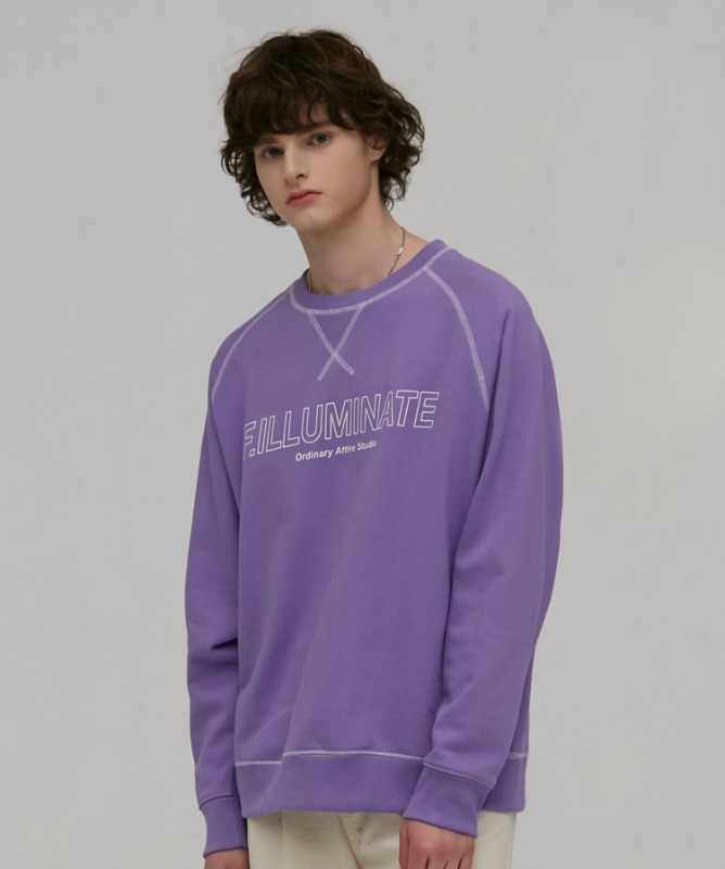 Unisex Overfit Lolli Sweat Shirt-Purple-F.ILLUMINATE