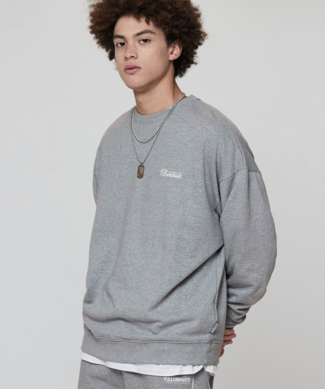 Unisex Overfit Seine Sweat Shirt-Grey-F.ILLUMINATE