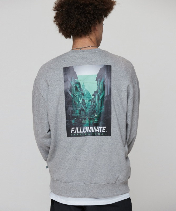 Unisex Regularfit Coexist Sweat Shirt-Grey-F.ILLUMINATE