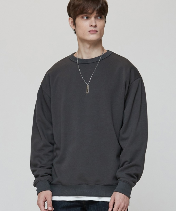 Unisex Regularfit Normal Sweat Shirt-Charcoal-F.ILLUMINATE