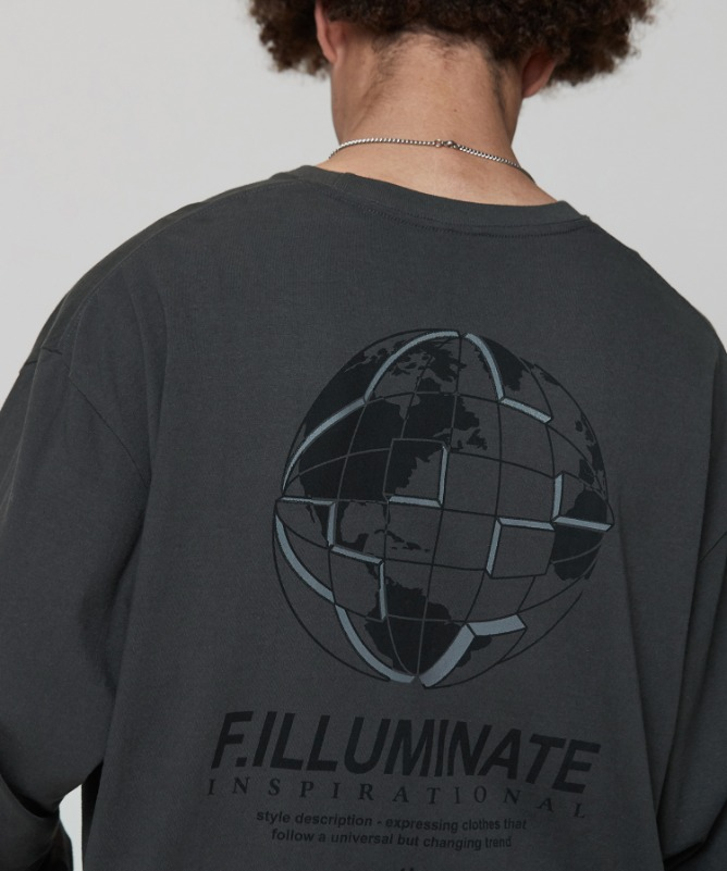 Unisex Overfit Jigsawearth Tee-Charcoal-F.ILLUMINATE