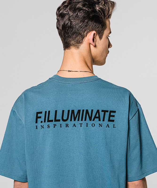 Unisex Regularfit Ideal Logo Tee-Blue-F.ILLUMINATE