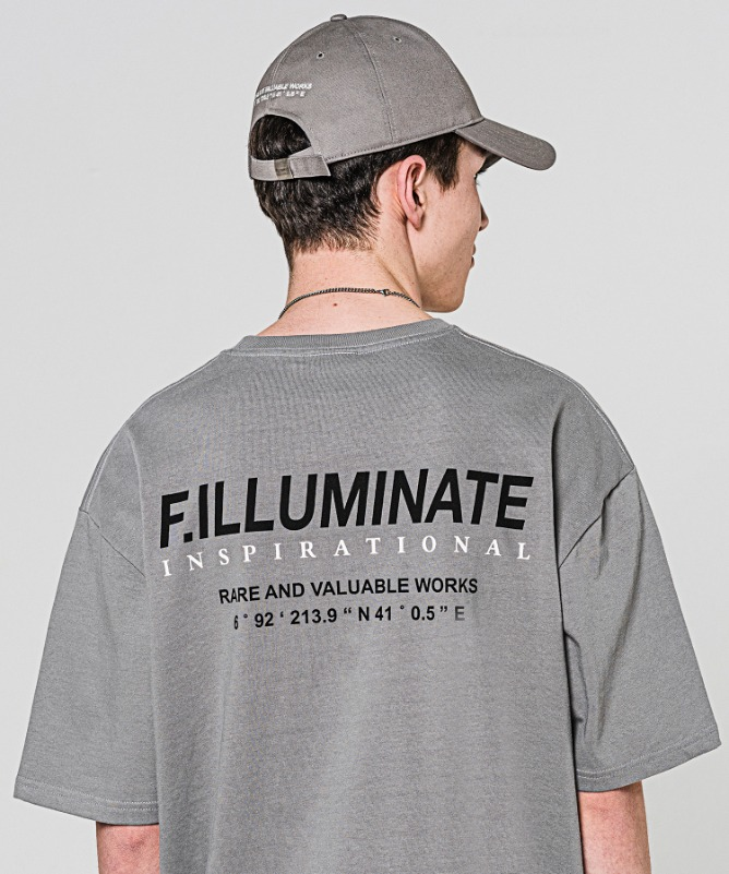 Unisex Regularfit Normal Logo Tee-Grey-F.ILLUMINATE