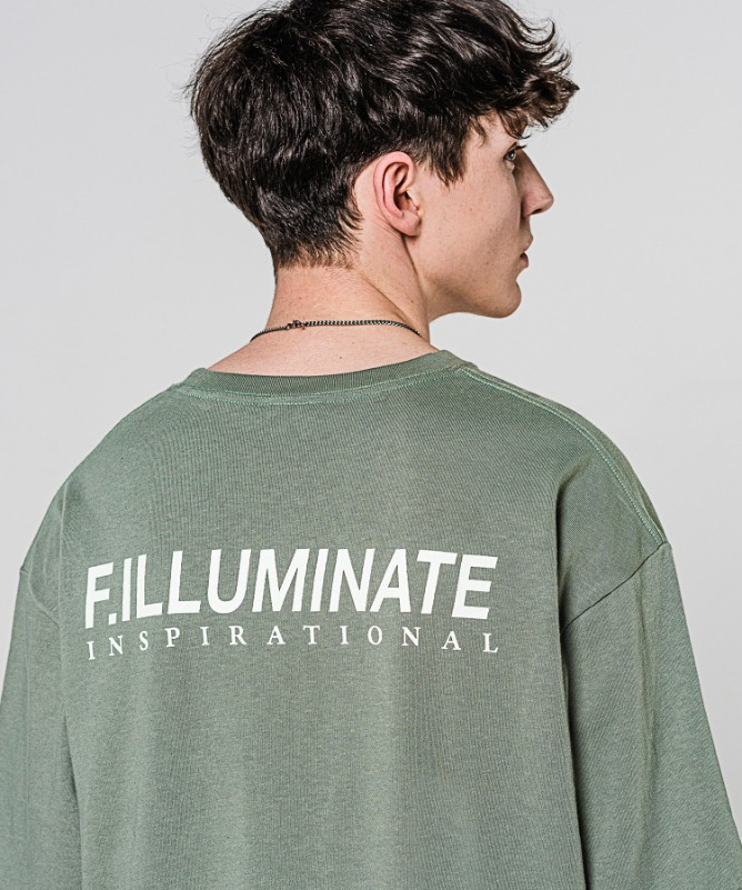 Unisex Regularfit Ideal Logo Tee-Khaki-F.ILLUMINATE