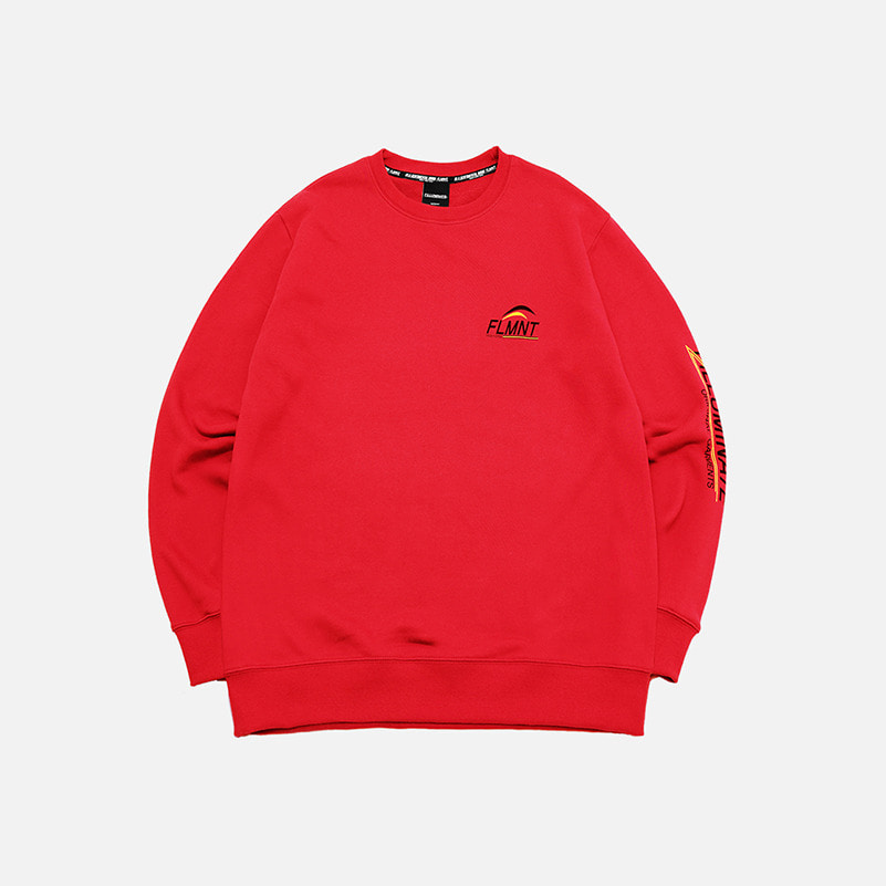 UNISEX Arm Graphic Sweat Shirt-Red-F.ILLUMINATE