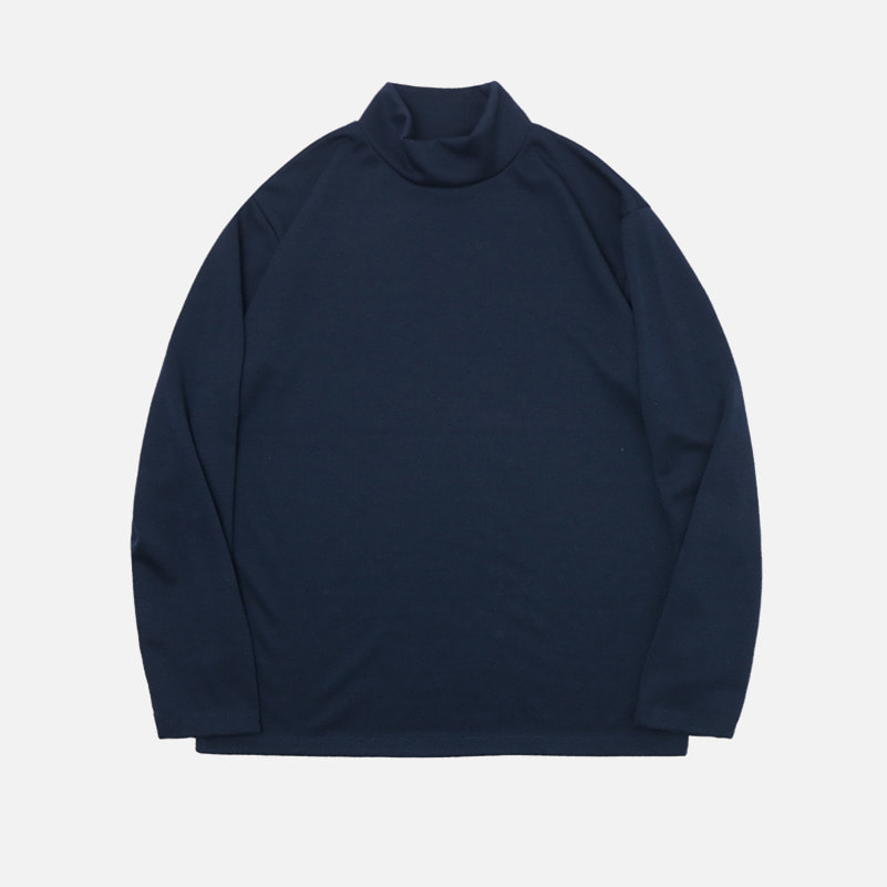 UNISEX Basic Half Poloneck-Navy-F.ILLUMINATE