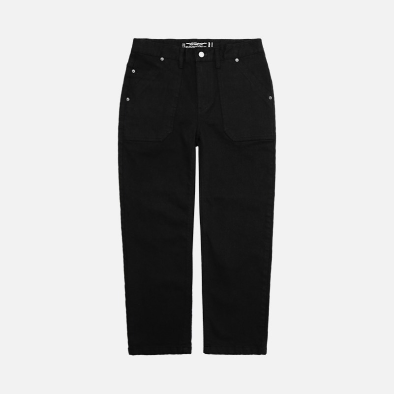 UNISEX Grainy Fatigue Pants-Black-F.ILLUMINATE
