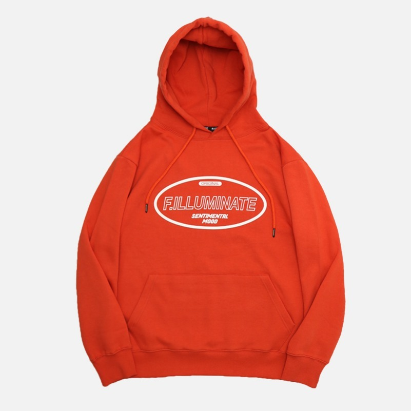 UNISEX Hollow Raising Hoodie-Orange-F.ILLUMINATE