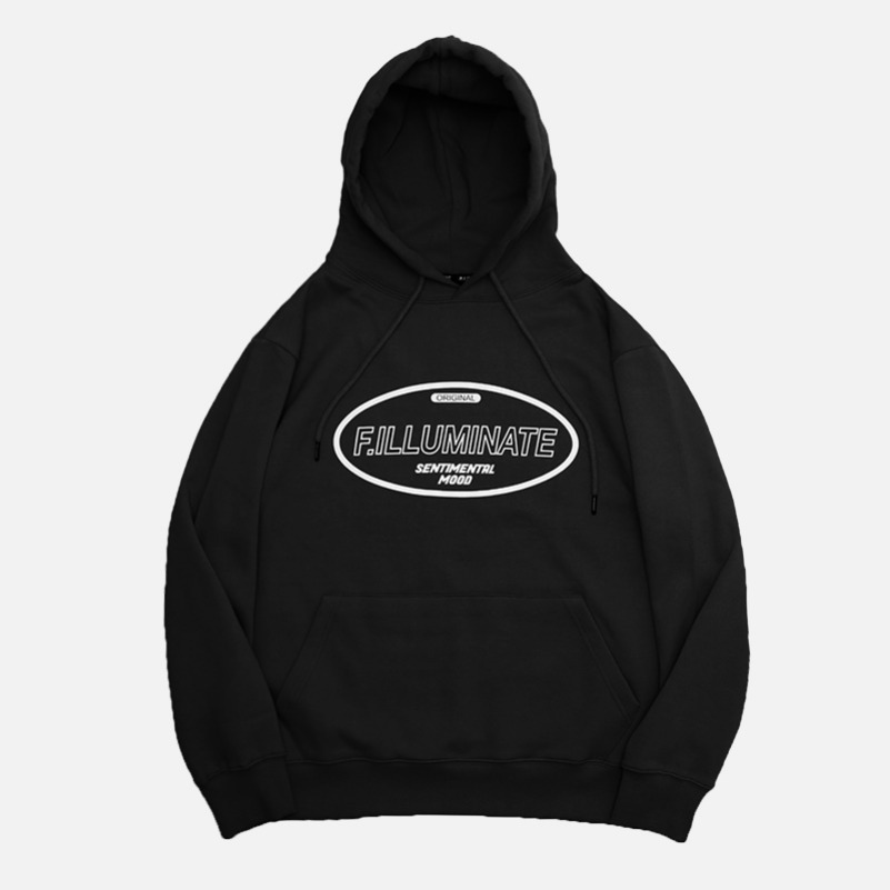 UNISEX Hollow Raising Hoodie-Black-F.ILLUMINATE