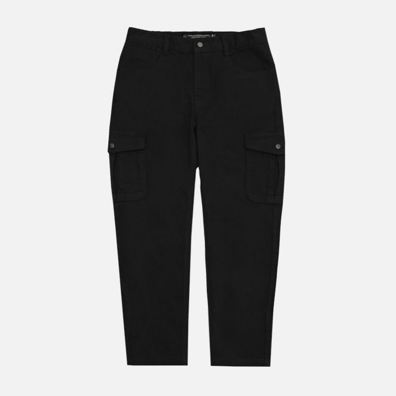 UNISEX Regular Cargo Pants-Black-F.ILLUMINATE