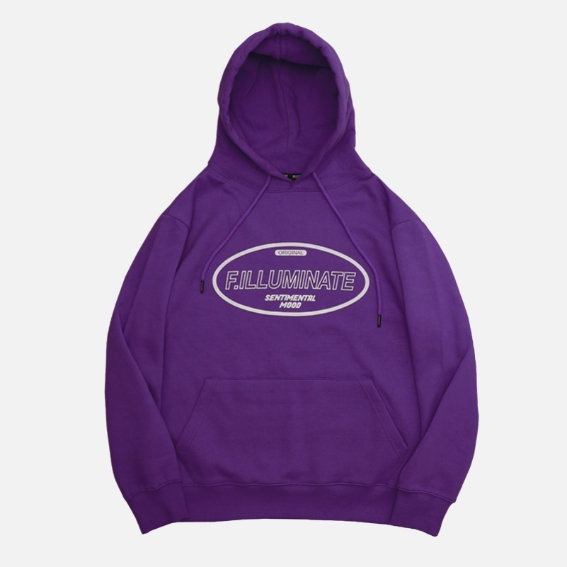 UNISEX Hollow Raising Hoodie-Purple-F.ILLUMINATE