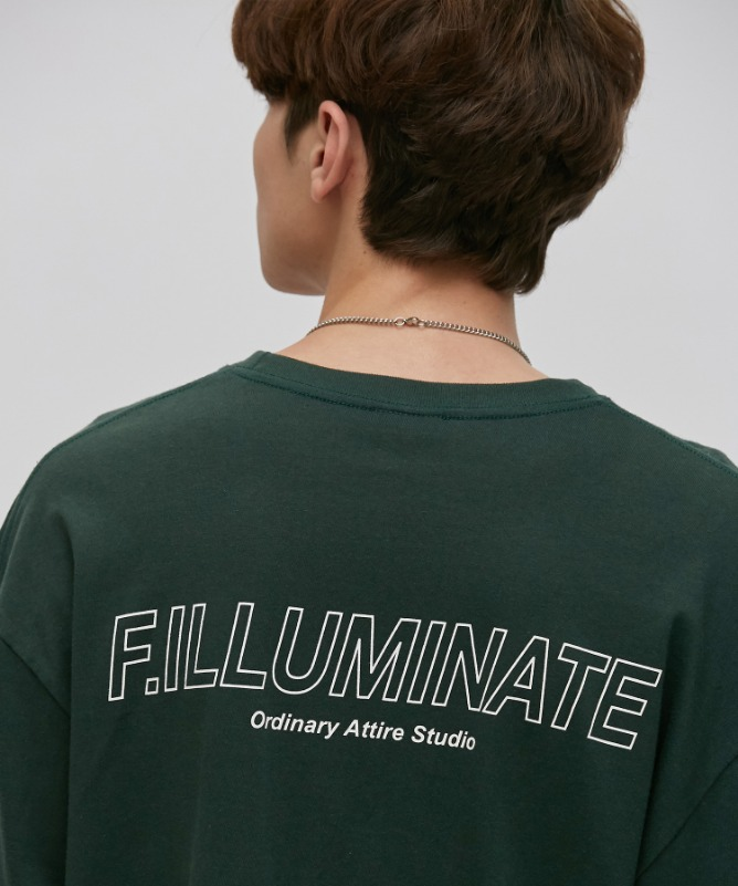 Unisex Elapse Logo Tee-Green-F.ILLUMINATE
