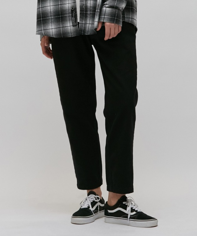 Unisex Straight Cotton Crop Pants-Black-F.ILLUMINATE
