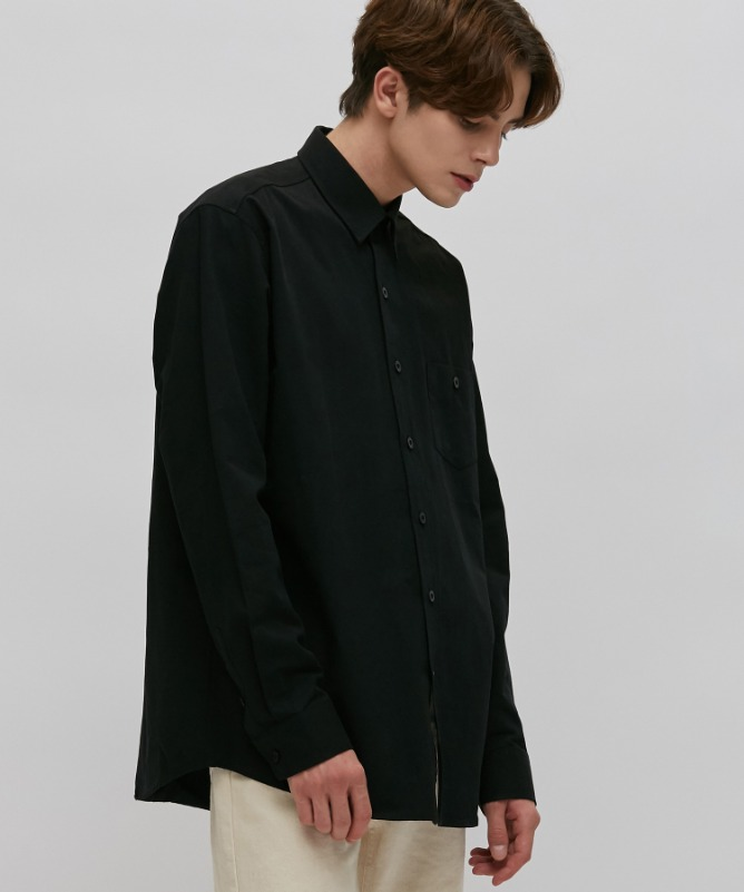 Unisex Urbane Basic Shirt-Black-F.ILLUMINATE