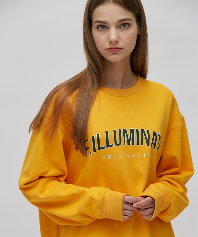Unisex Standard Logo Sweat Shirt-Yellow-F.ILLUMINATE