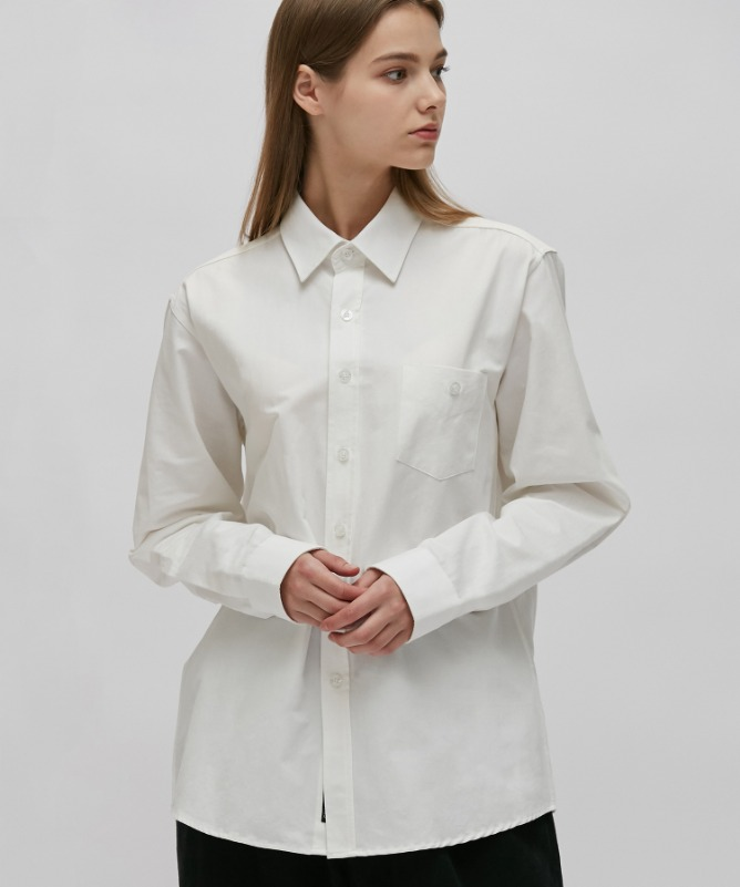 Unisex Urbane Basic Shirt-White-F.ILLUMINATE