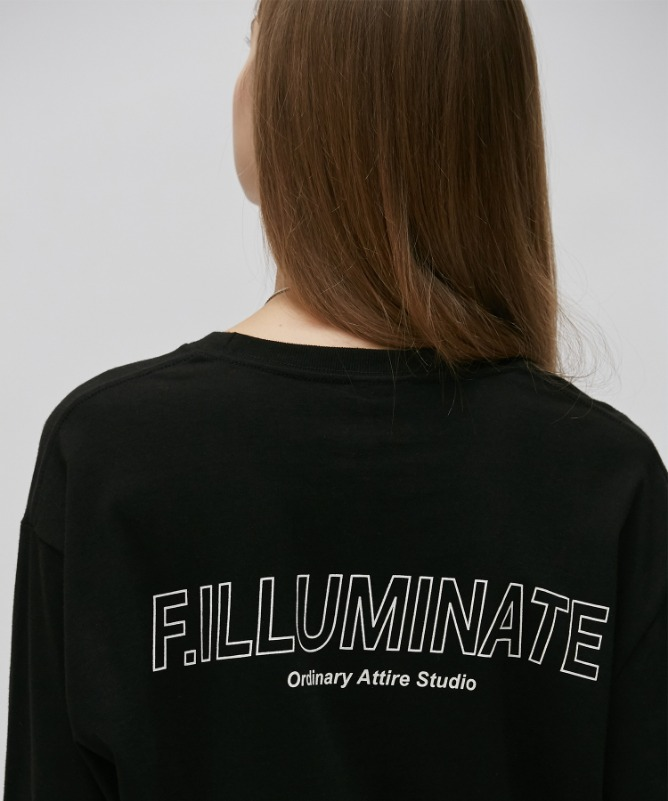 Unisex Elapse Logo Tee-Black-F.ILLUMINATE
