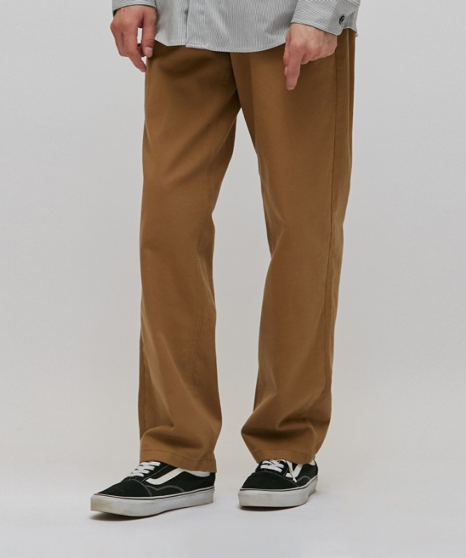 Unisex Wide Cotton Pants-Brown-F.ILLUMINATE