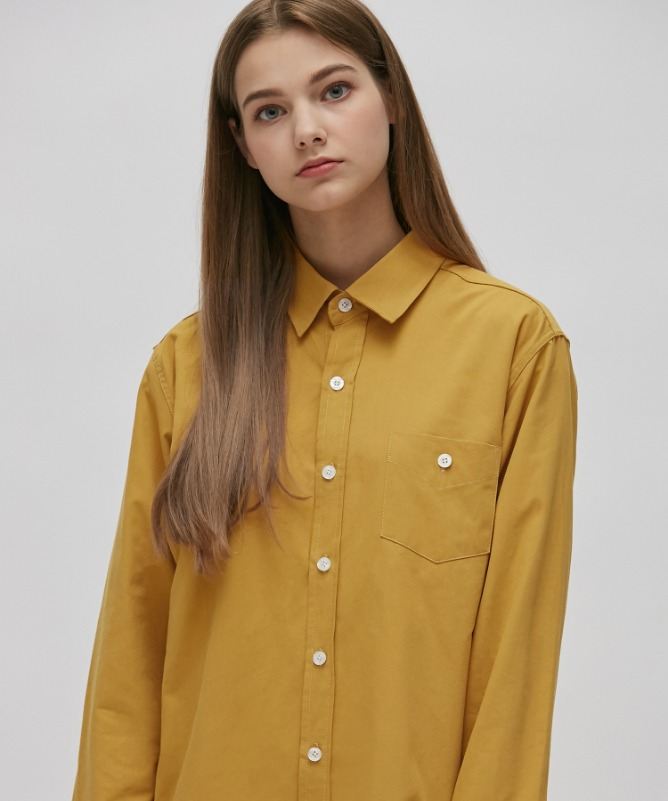 Unisex Urbane Basic Shirt-Mustard-F.ILLUMINATE