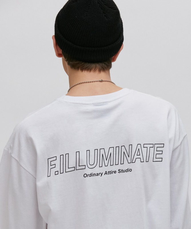 Unisex Elapse Logo Tee-White-F.ILLUMINATE