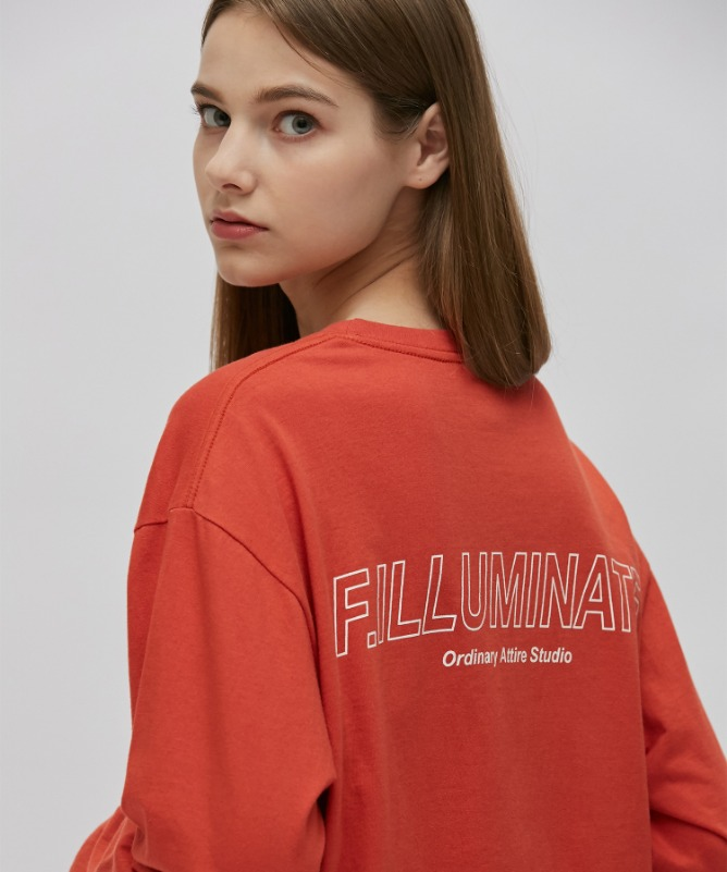 Unisex Elapse Logo Tee-Red-F.ILLUMINATE