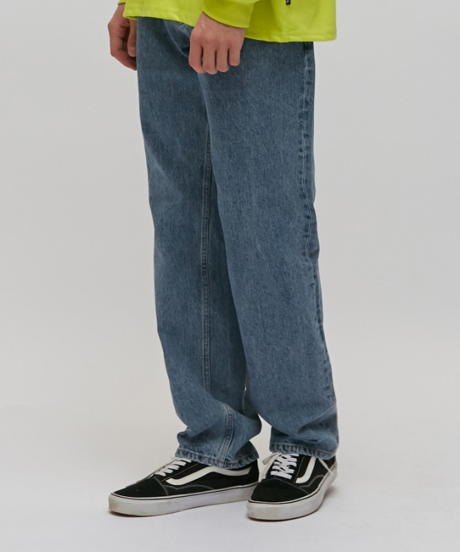Unisex Retro Straight Denim Jeans-Indigo-F.ILLUMINATE