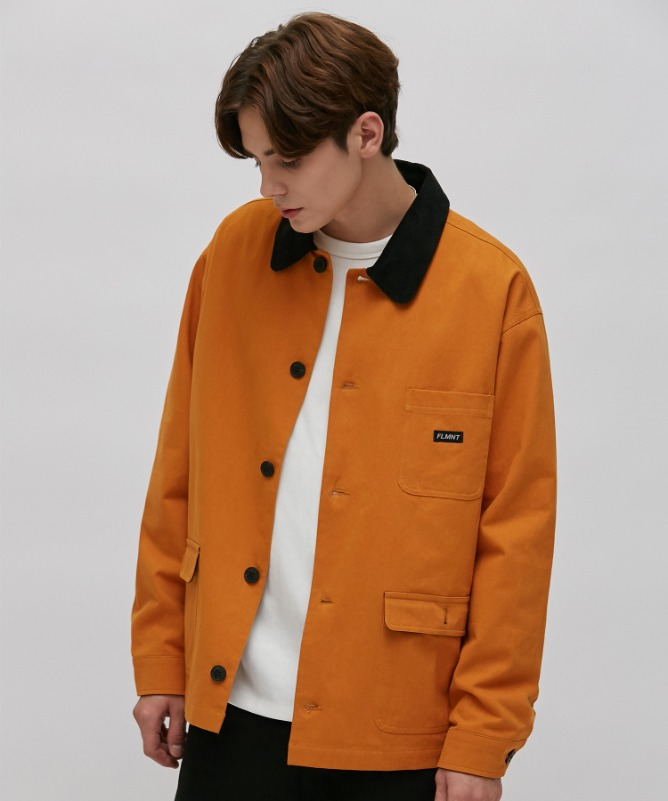 Unisex Point Color Hunting Jacket-Orange-F.ILLUMINATE