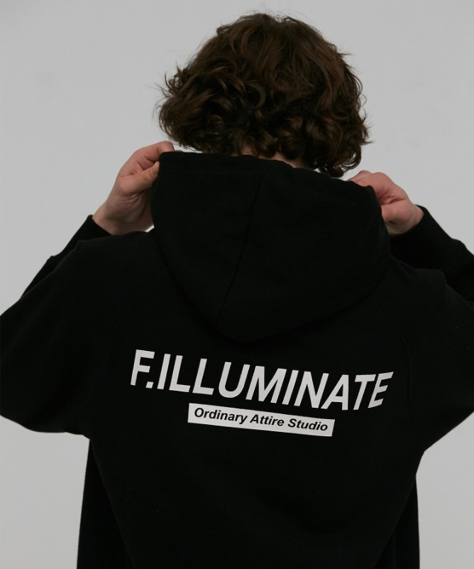 Unisex Natural Raglan Hoodie-Black-F.ILLUMINATE