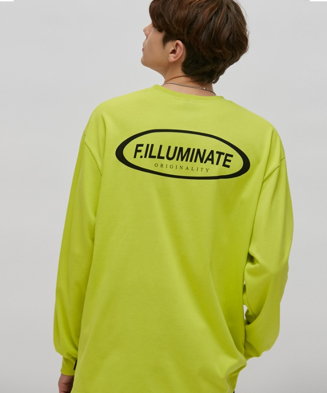 Unisex Gravity Logo Tee-Yellowgreen-F.ILLUMINATE