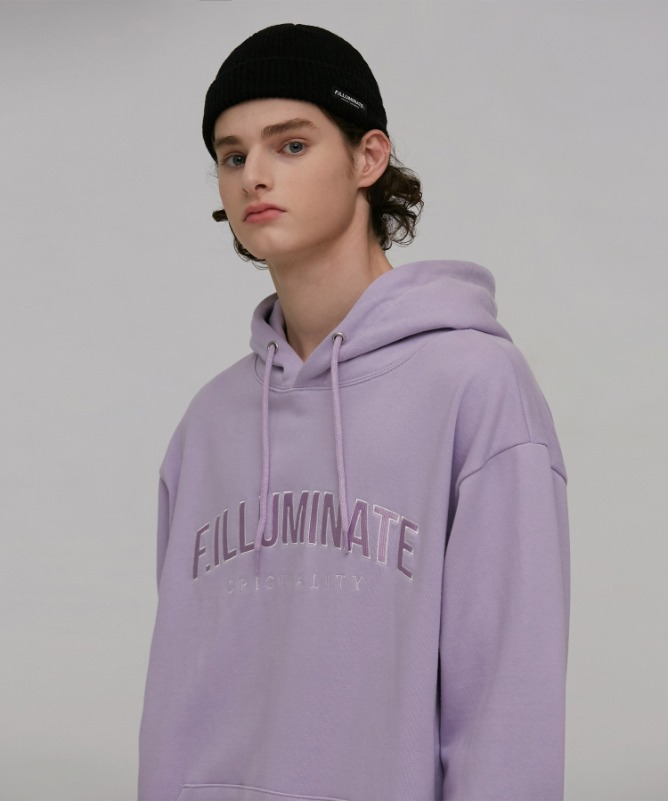 Unisex Overfit Dreamy Hoodie-Light Purple-F.ILLUMINATE