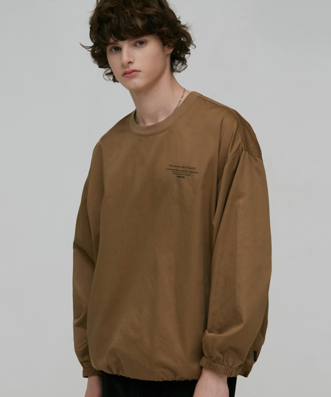 Unisex Around Cotton Pullover-Brown-F.ILLUMINATE