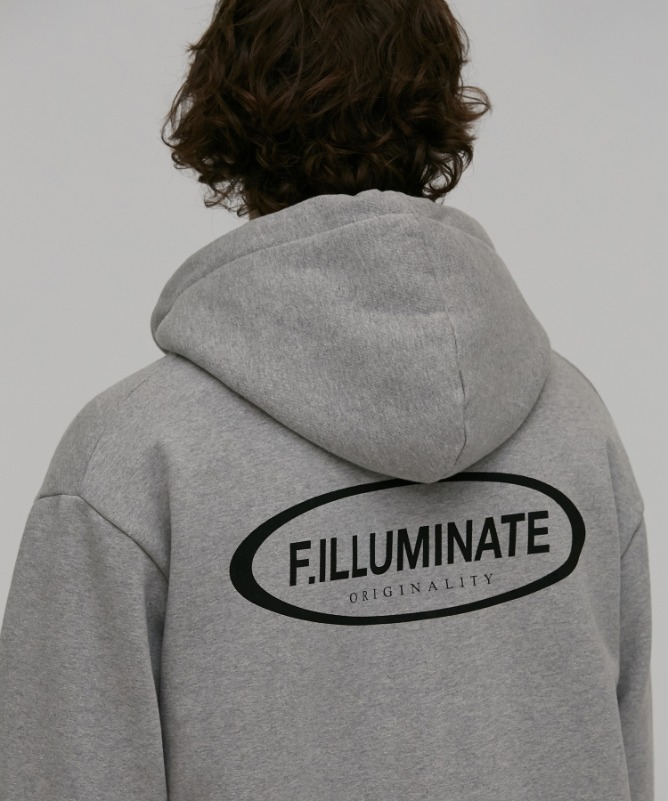 Unisex Celeb Hood Zip Up-Grey-F.ILLUMINATE