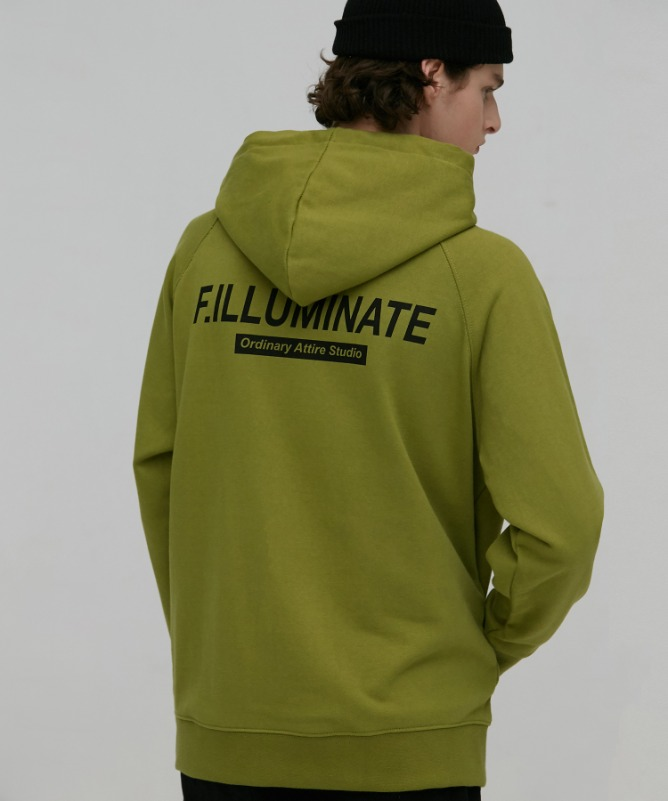 Unisex Natural Raglan Hoodie-Olive Green-F.ILLUMINATE