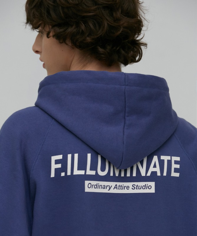 Unisex Natural Raglan Hoodie-Blue-F.ILLUMINATE