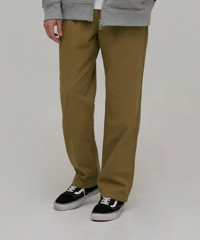Unisex Slub Cotton Wide Pants-Brown-F.ILLUMINATE