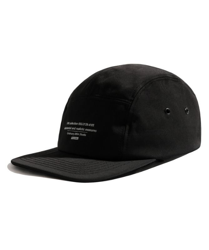 Unisex Message Camp Cap-Black-F.ILLUMINATE