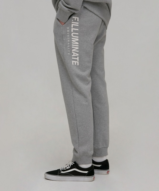 Unisex Overfit Industry Training Pants-Grey-F.ILLUMINATE