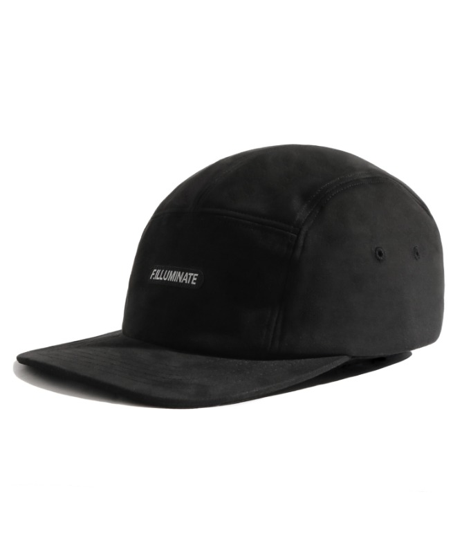 Unisex Suede Camp Cap-Black-F.ILLUMINATE