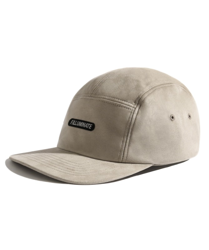 Unisex Suede Camp Cap-Ivory-F.ILLUMINATE