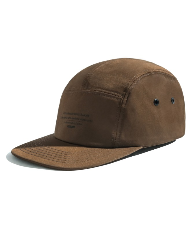 Unisex Message Camp Cap-Brown-F.ILLUMINATE