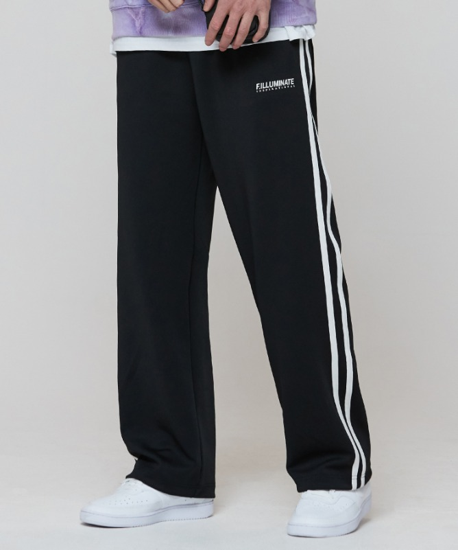 Unisex New Logo Track Pants-Black-F.ILLUMINATE
