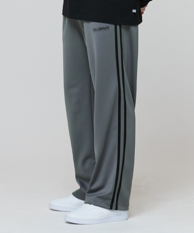 Unisex New Logo Track Pants-Charcoal-F.ILLUMINATE