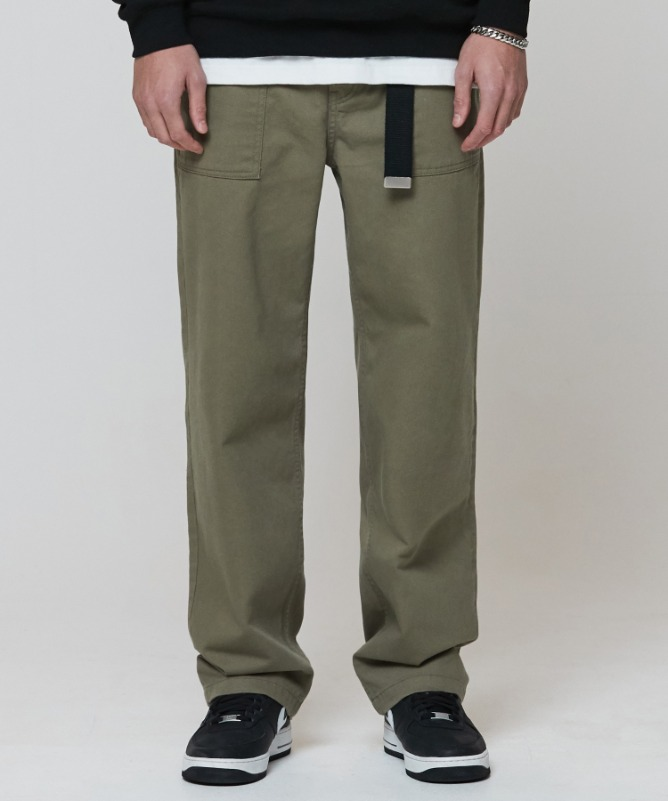 Unisex Widefit Cotton Fatigue Pants-Khaki  1월 22일 예약 배송-F.ILLUMINATE