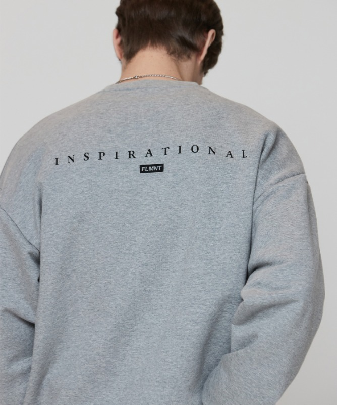 Unisex Overfit Minimal Sweat Shirt-Grey-F.ILLUMINATE