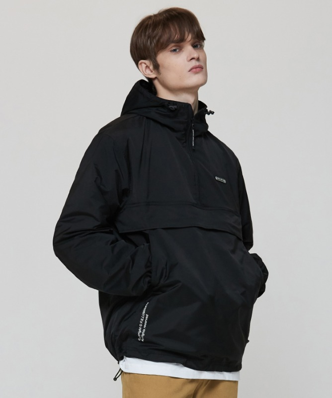 Unisex Retain Coord Anorak-Black-F.ILLUMINATE